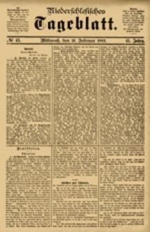 Niederschlesisches Tageblatt, no 43 (Mittwoch, den 21. Februar 1883)