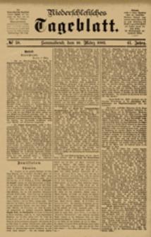 Niederschlesisches Tageblatt, no 58 (Sonnabend, den 10. März 1883)