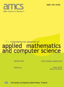 International Journal of Applied Mathematics and Computer Science (AMCS) 2004 Volume 14 Number 3