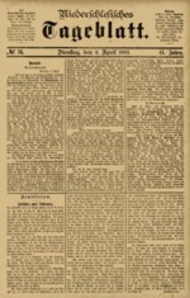 Niederschlesisches Tageblatt, no 76 (Dienstag, den 3. April 1883)