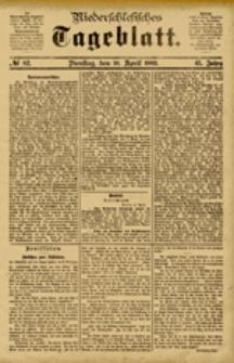 Niederschlesisches Tageblatt, no 82 (Dienstag, den 10. April 1883)