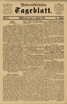 Niederschlesisches Tageblatt, no 83 (Mittwoch, den 11. April 1883)
