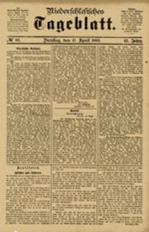 Niederschlesisches Tageblatt, no 88 (Dienstag, den 17. April 1883)