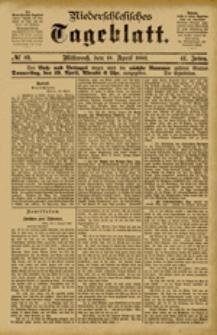 Niederschlesisches Tageblatt, no 89 (Mittwoch, den 18. April 1883)