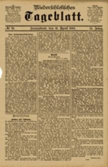 Niederschlesisches Tageblatt, no 91 (Sonnabend, den 21. April 1883)