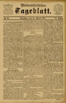 Niederschlesisches Tageblatt, no 93 (Dienstag, den 24. April 1883)