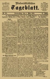 Niederschlesisches Tageblatt, no 101 (Donnerstag, den 3. Mai 1883)