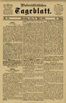 Niederschlesisches Tageblatt, no 115 (Dienstag, den 22. Mai 1883)