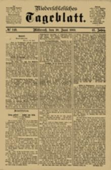 Niederschlesisches Tageblatt, no 140 (Mittwoch, den 20. Juni 1883)