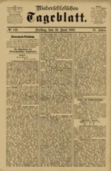 Niederschlesisches Tageblatt, no 142 (Freitag, den 22. Juni 1883)