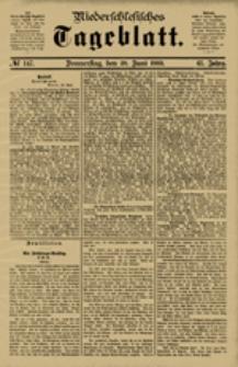 Niederschlesisches Tageblatt, no 147 (Donnerstag, den 28. Juni 1883)