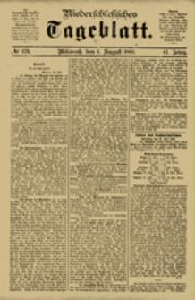 Niederschlesisches Tageblatt, no 176 (Mittwoch, den 1. August 1883)