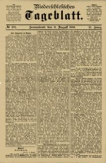 Niederschlesisches Tageblatt, no 185 (Sonnabend, den 11. August 1883)