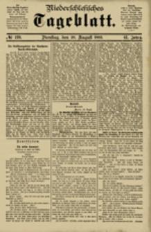 Niederschlesisches Tageblatt, no 199 (Dienstag, den 28. August 1883)