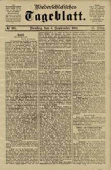 Niederschlesisches Tageblatt, no 205 (Dienstag, den 4. September 1883)