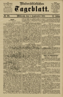 Niederschlesisches Tageblatt, no 206 (Mittwoch, den 5. September 1883)