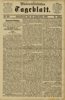 Niederschlesisches Tageblatt, no 221 (Sonnabend, den 22. September 1883)
