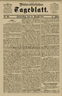 Niederschlesisches Tageblatt, no 233 (Sonnabend, den 6. Oktober 1883)