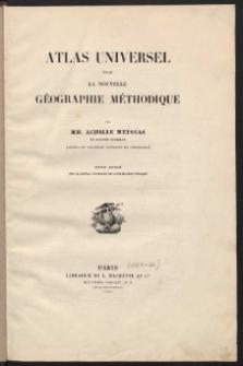 Atlas Universel pour La Nouvelle Geographie Methodique