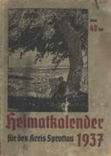 Heimatkalender für den Kreis Sprottau, 1937