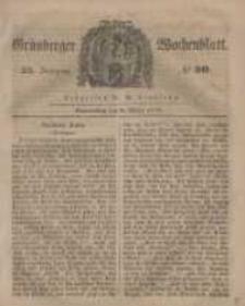 Grünberger Wochenblatt, No. 20. (9. März 1848)