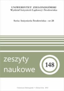Zeszyty Naukowe Uniwersytetu Zielonogórskiego: Inżynieria Środowiska, Tom 28