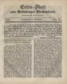 Extra - Blatt zum Grünberger Wochenblatt, No. 92. (14. November 1848)