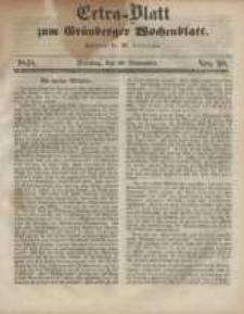 Extra - Blatt zum Grünberger Wochenblatt, No. 98. (28. November 1848)