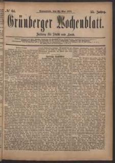 Grünberger Wochenblatt: Zeitung für Stadt und Land, No. 64. (31. Mai 1879)