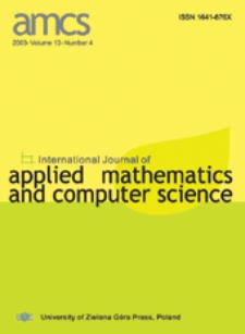 International Journal of Applied Mathematics and Computer Science (AMCS) 2003 Volume 13 Number 4
