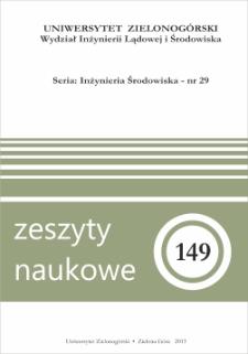 Zeszyty Naukowe Uniwersytetu Zielonogórskiego: Inżynieria Środowiska, Tom 29