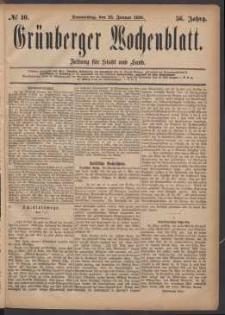 Grünberger Wochenblatt: Zeitung für Stadt und Land, No. 10. (22. Januar 1880)
