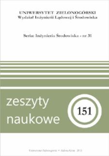 Zeszyty Naukowe Uniwersytetu Zielonogórskiego: Inżynieria Środowiska, Tom 31
