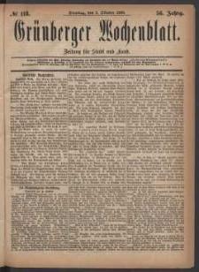 Grünberger Wochenblatt: Zeitung für Stadt und Land, No. 118. (5. Oktober 1880)