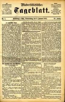 Niederschlesisches Tageblatt, no 4 (Grünberg i. Schl., Donnerstag, den 6. Januar 1898)