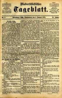 Niederschlesisches Tageblatt, no 6 (Grünberg i. Schl., Sonnabend, den 8. Januar 1898)