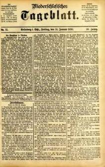 Niederschlesisches Tageblatt, no 11 (Grünberg i. Schl., Freitag, den 14. Januar 1898)