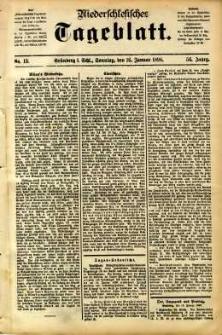 Niederschlesisches Tageblatt, no 13 (Grünberg i. Schl., Sonntag, den 16. Januar 1898)