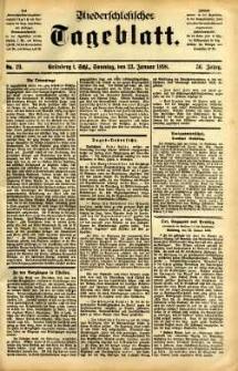 Niederschlesisches Tageblatt, no 19 (Grünberg i. Schl., Sonntag, den 23. Januar 1898)