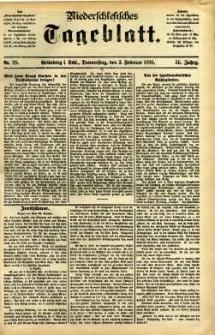 Niederschlesisches Tageblatt, no 28 (Grünberg i. Schl., Donnerstag, den 3. Februar 1898)