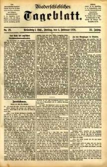 Niederschlesisches Tageblatt, no 29 (Grünberg i. Schl., Freitag, den 4. Februar 1898)