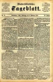 Niederschlesisches Tageblatt, no 31 (Grünberg i. Schl., Sonntag, den 6. Februar 1898)