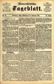 Niederschlesisches Tageblatt, no 33 (Grünberg i. Schl., Mittwoch, den 9. Februar 1898)