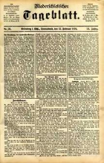 Niederschlesisches Tageblatt, no 36 (Grünberg i. Schl., Sonnabend, den 12. Februar 1898)