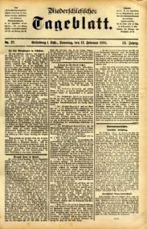 Niederschlesisches Tageblatt, no 37 (Grünberg i. Schl., Sonntag, den 13. Februar 1898)