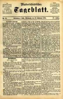 Niederschlesisches Tageblatt, no 45 (Grünberg i. Schl., Mittwoch, den 23. Februar 1898)