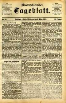 Niederschlesisches Tageblatt, no 51 (Grünberg i. Schl., Mittwoch, den 2. März 1898)