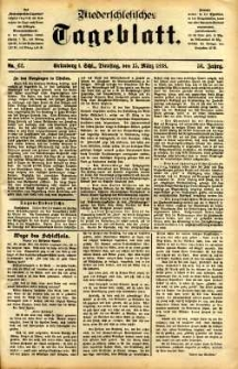 Niederschlesisches Tageblatt, no 62 (Grünberg i. Schl., Dienstag, den 15. März 1898)