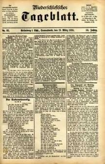 Niederschlesisches Tageblatt, no 66 (Grünberg i. Schl., Sonnabend, den 19. März 1898)