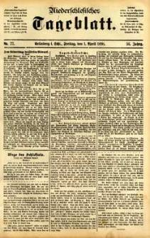 Niederschlesisches Tageblatt, no 77 (Grünberg i. Schl., Freitag, den 1. April 1898)